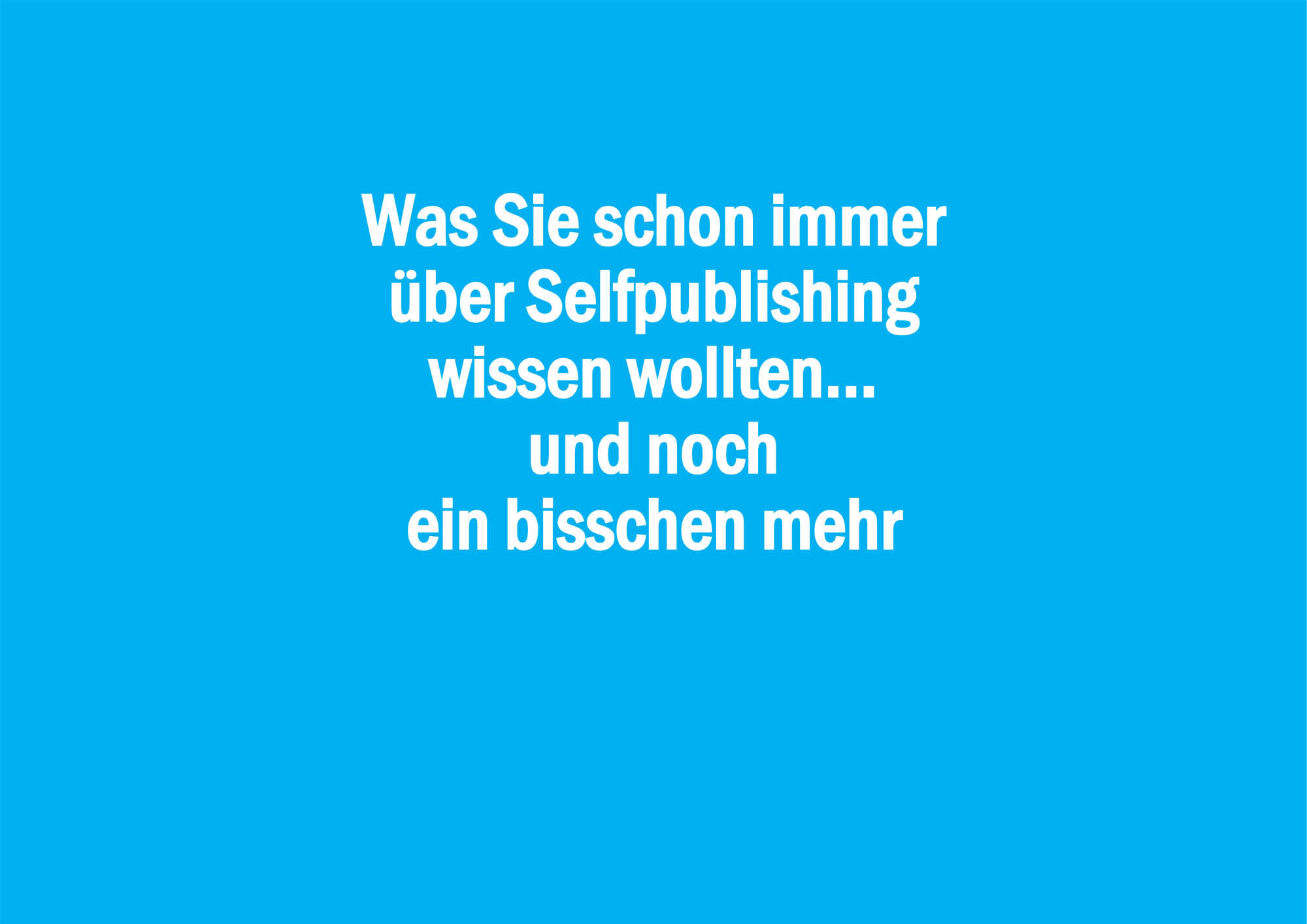 Professionelles Selfpublishing